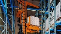 An LTW Intralogistics stacker crane helps deep-freeze automated storage retrieval systems.