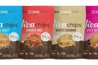 JicaChips come in five flavors: Sea Salt, Smoked BBQ, White Cheddar, Spicy Soy Ginger, and Cinnamon Sugar