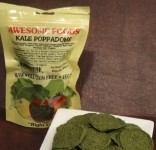 Awesome Foods' Kale Poppadoms appeared in a recent HealthyCheats subscription box